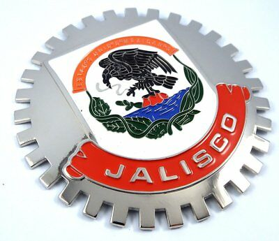 Jalisco Mexico Grille Badge for car truck grill mount Mexican flag