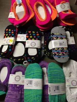 Assorted Girls Foot Covers Mixed Lot Sizes-Colors S-Large Lot Of 42 Pairs