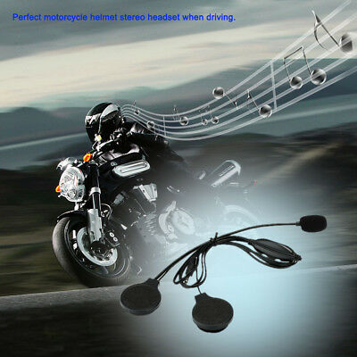 Motorbike Helmet Headset Call Earphone with Microphone Volume Controller HQ L4Z8
