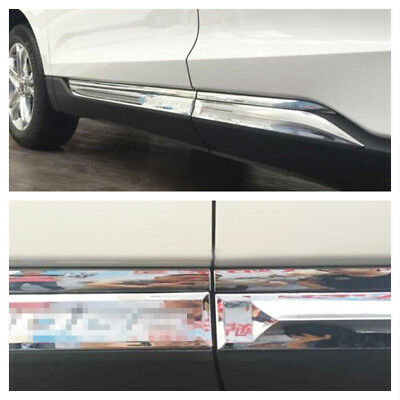 4*Car Chrome Body Door Side Molding Cover Trims For Ford Edge 2015 - 2017