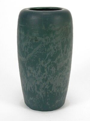 Hampshire Pottery matte blue green ovoid curdled snake glaze arts & crafts