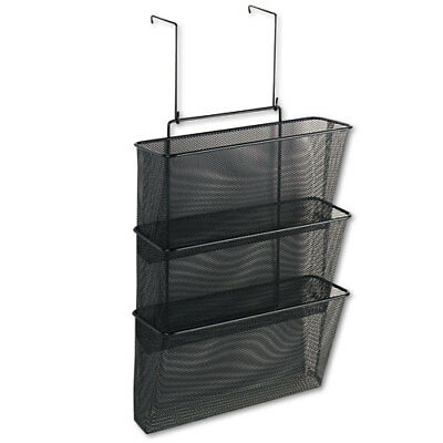 Fellowes Mesh Partition Additions 3-File Pocket Organizer, 12 5/8 x 16.75, Black