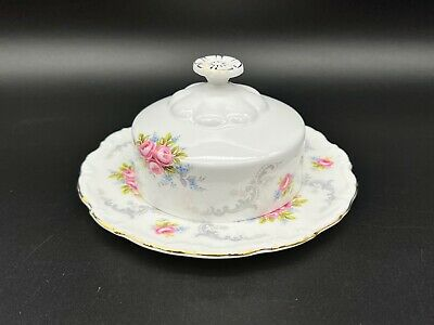 Royal Albert Tranquillity Butter Dish With Lid Cover Bone China England