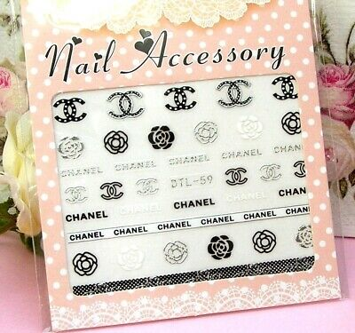 ❤️ Nail Art Stickers 3D Marque Logo Bijoux Ongles Manucure