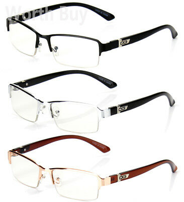 Half Rim Men Women DG Eyewear Clear Lens Frame Eye Glasses Designer Fashion Nerd