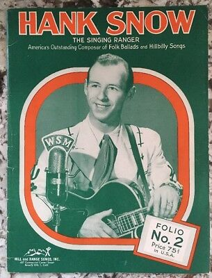 Vintage 1950s HANK SNOW Folio No. 2 Picture Song Book ***SIGNED***