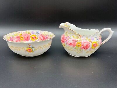 Royal Albert Serena Creamer Sugar Bowl Set Bone China England