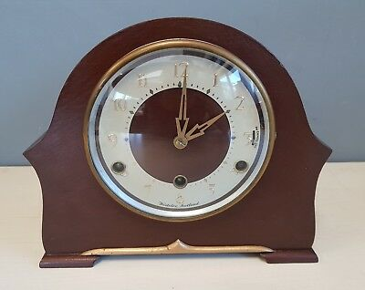 Wind Up Mantle Clock Westclox In Running Order with Key