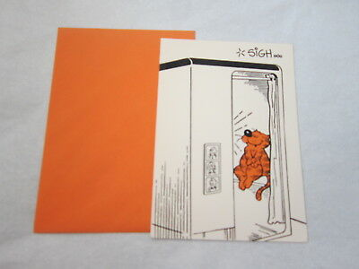 Vintage Nos Heathcliff The Kitty Cat Greeting Card 1980 Norcross Picture Booth