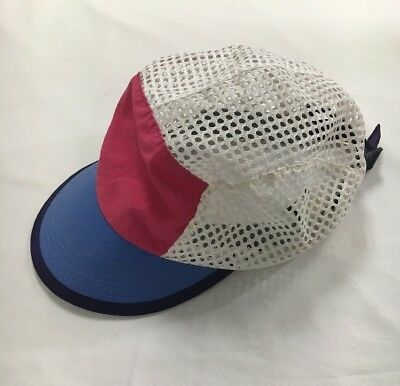 Vtg Patagonia Duck Bill Panel Adjustable Mesh Dad Hat L Made In USA Pink  Blue 9a9d7eb359dc