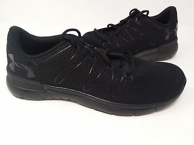 NEW! UNDER ARMOUR Men s Thrill 3 Running Shoes Black  1295736-003 ... 0ed6a2ac663