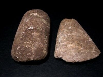 Two Rare Neolithic Grey Stone Scrapers From The Balkans+++