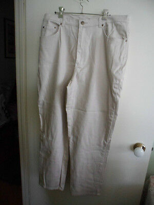 RETRO VINTAGE STYLE & Co WOMENS JEANS STRETCH SIZE 18 WP CREAM PANTS TROUSERS