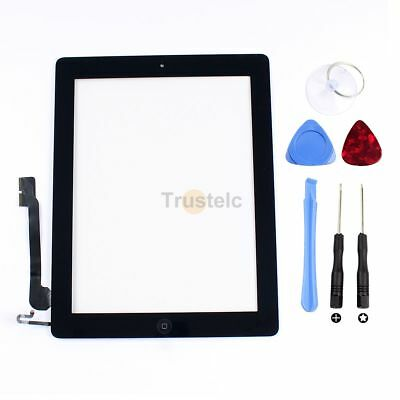 Touch Screen Glass Digitizer Assembly Replacement + Home Button for iPad 4th Gen