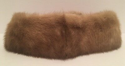 Vintage Women's Authentic Mink Fur Neck Wrap Warmer Collar Scarf Brown Canada