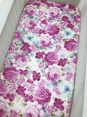Monica Lilac Floral BASSINET FITTED SHEET