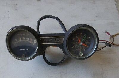 1965 mustang rally pac guage cluster