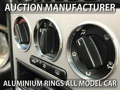 Opel Astra G Mk4 98-09 Chrome Heater Rings Dashboard Alloy Surrounds x3 New