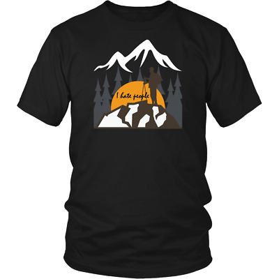 I Hate People Camping Shirt Mountain Campers Lovers Funny Camping Gift T-Shirt