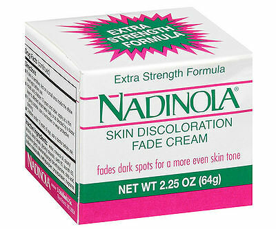 3 NADINOLA Extra Strength Skin Discoloration Fade Cream 2.25oz (64g)