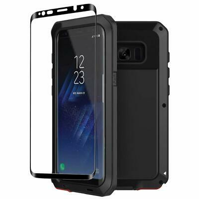 Tank Wolf Case Galaxy S10 S9 S8 Plus Aluminium Metal 360 Hybrid 3D Glass Screen