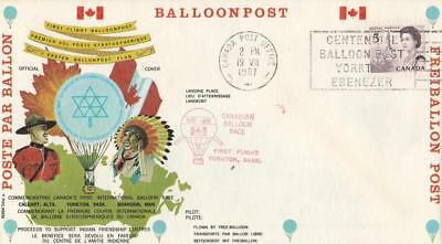 Canada Baloon Post 1967 Illustrated First Flight Cover