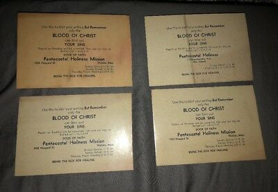 Vintage 1940s Hilo Hawaii Religious Ink Blotters Pentecostal Holiness Mission
