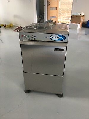 Commercial Classeq Eco 2 Glasswasher Glass Washer Underbench Under Sink Eco2P