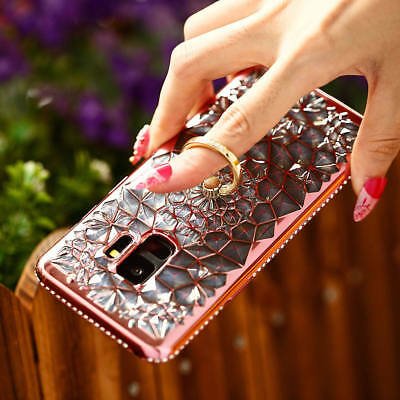 For Samsung Galaxy S9 Plus S9 Diamond Finger Holder Ring Buckle With Case Cover