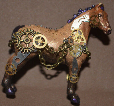 OOAK Awesomely Customized Breyer Mini Whinnie STEAMPUNK Horse TnT pony NEW
