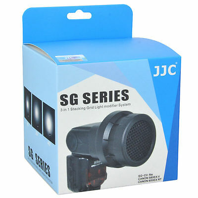 NEW JJC Light Modifier System SG-C 3 in 1 Stacking Grid for Canon 580EX/EX II