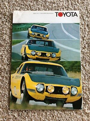 1960s  Toyota original factory printed sales handout with the 2000-GT sports car