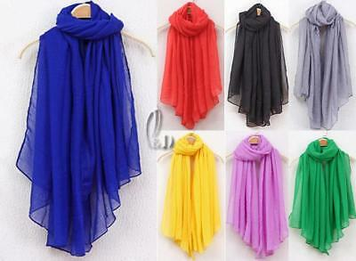 WHOLESALE BULK LOT 10 MIXED COLOUR Soft Cotton Voile Wrap SCARF/SHAWL sc077