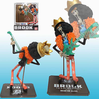 """One Piece Anime For The New World Brook with Guitar Figuarts Zero 7"""" Figure Toys"""