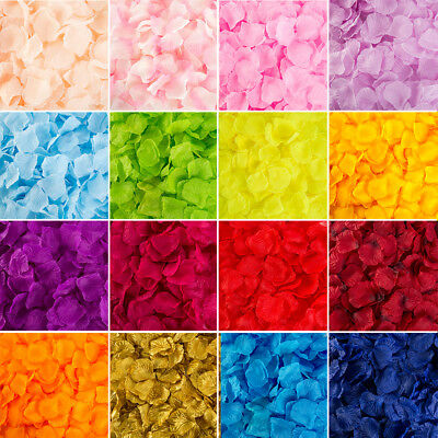 400/1000Pc Various Colors Silk Fake Flower Rose Petals Wedding Party Decorations