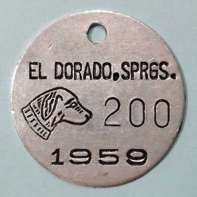 1959 El Dorado Springs Missouri DOG TAX tag DOG LICENSE tag