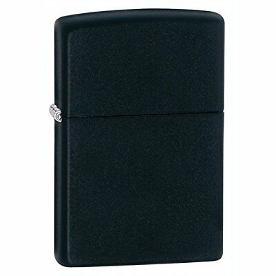 Zippo 218 Windproof lighter without logo, Black Matte, Regular