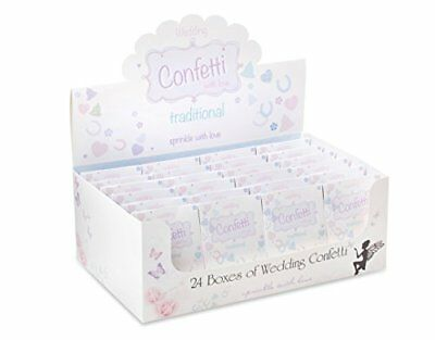 Traditional Paper Shapes Wedding Throwing Confetti 24 Packs Sprinkled with Lov