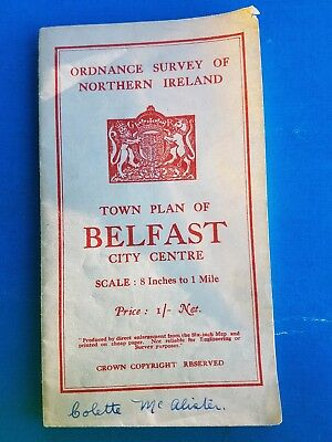 belfast town plan of city centre 1938 map