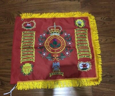 Royal Scots Dragoon Guards ceremonial Standard flag.