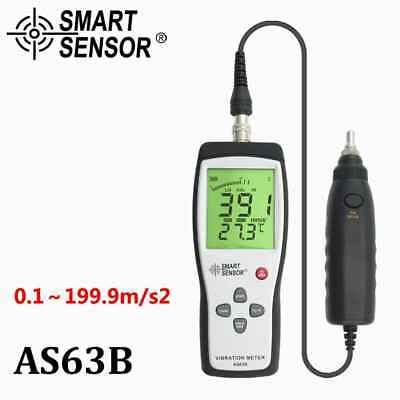 SMART SENSOR AS63B Digital Probe Vibration Meter Vibration Tester Gauge Analyzer