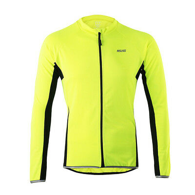 ARSUXEO 6022 Men's Long-Sleeved Cycling Jersey - Green (L)