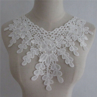 lace collar clothing applique accessory decorate neckline embroidery YL655