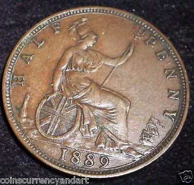 Great Britain 1/2 Penny KM# 754  1889 HIGH GRADE