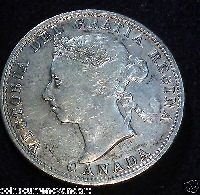 Canada 1887  Twenty-Five Cents  SCARCE LOW MINTAGE (100,000)