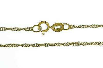 REAL 9ct GOLD FINE PRINCE OF WALES TWIST LADIES TWISTED LINK CHAIN NECKLACE
