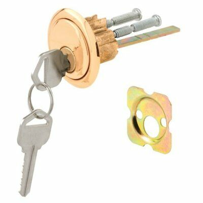 Defender Security U 9965 Rim Cylinder Lock Kwikset/Weiser with Brass Face and Di