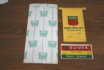 NOS Oliver Tractor Advertising Sales Items  Lot of 3 Harry P Wright Caribou Ma