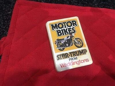 Waddingtons Star Trump Motor Bikes Card Set