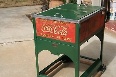 1930's Glasscock Coca Cola Cooler.  Standard size.